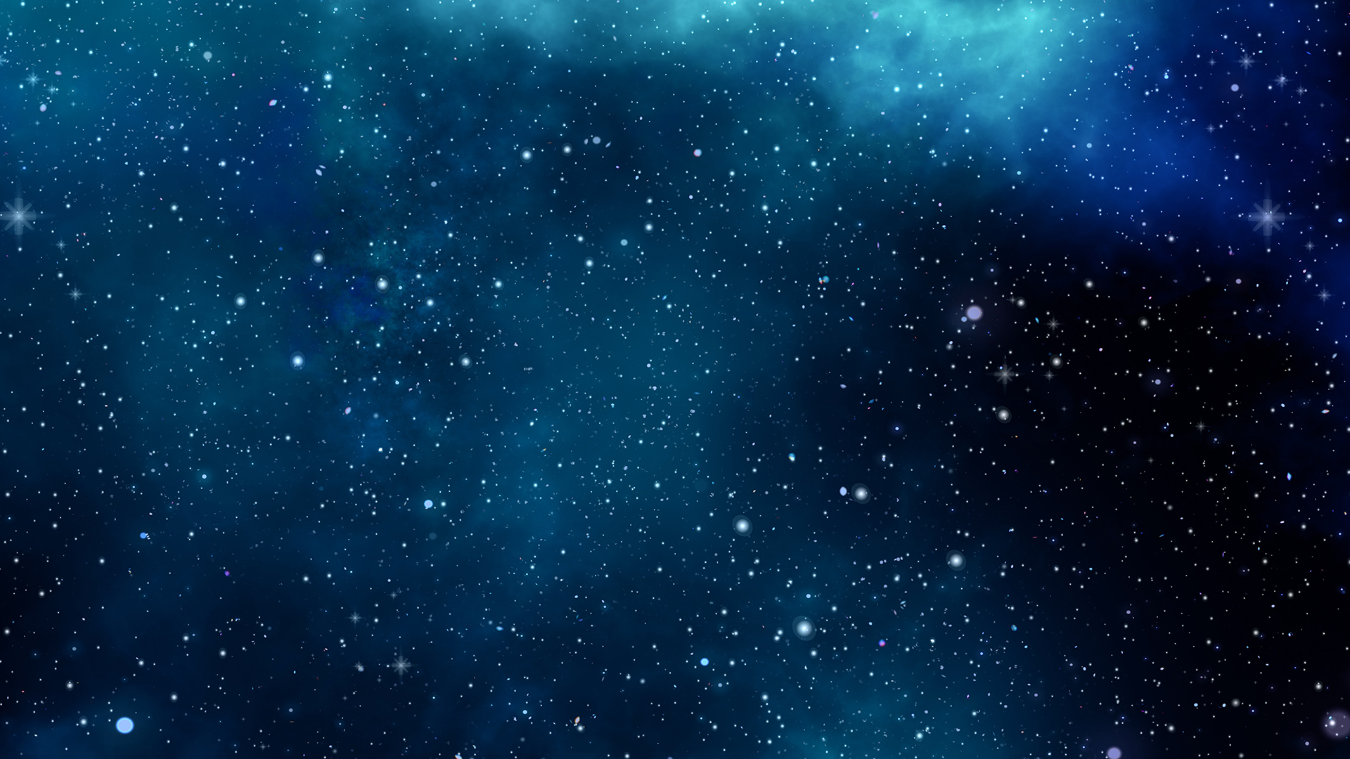 Blue Space Laptop Background