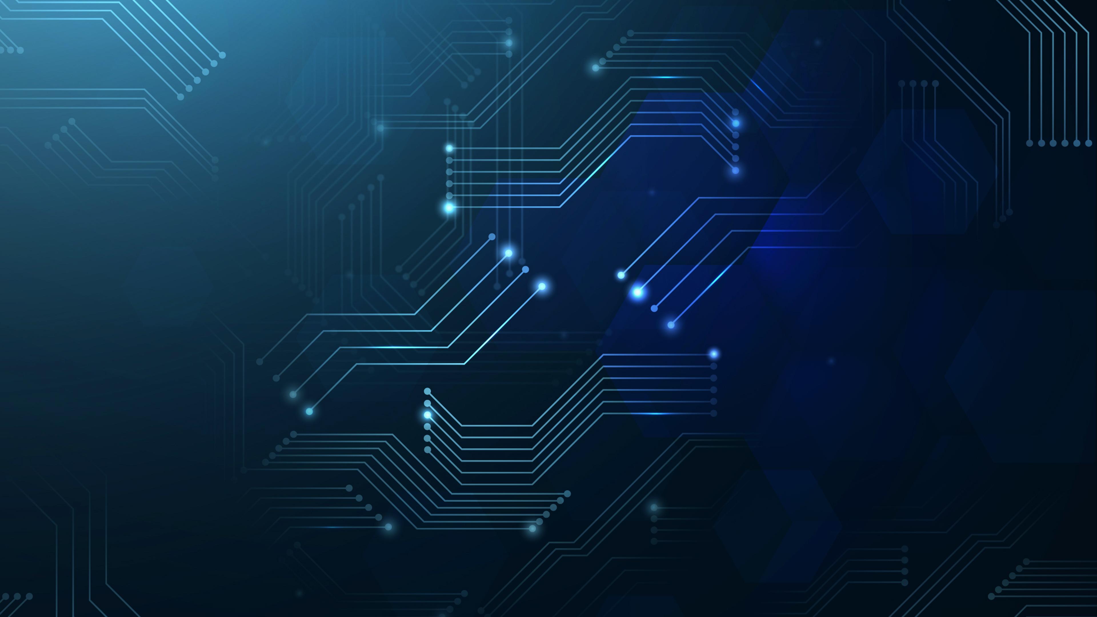 4k Blue Technology Wallpaper Hd