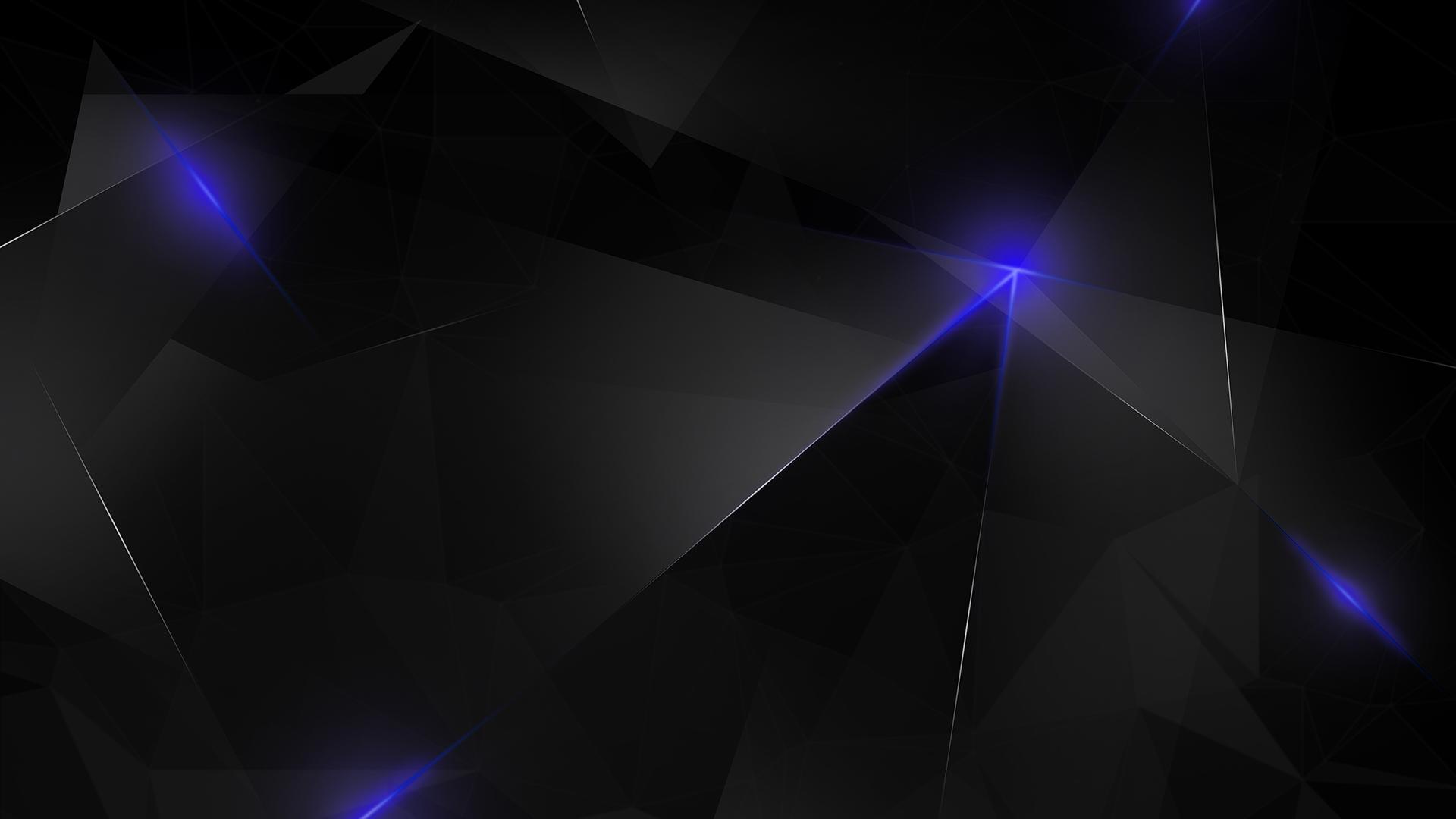 4k Dark Blue Polygon Wallpaper Hd