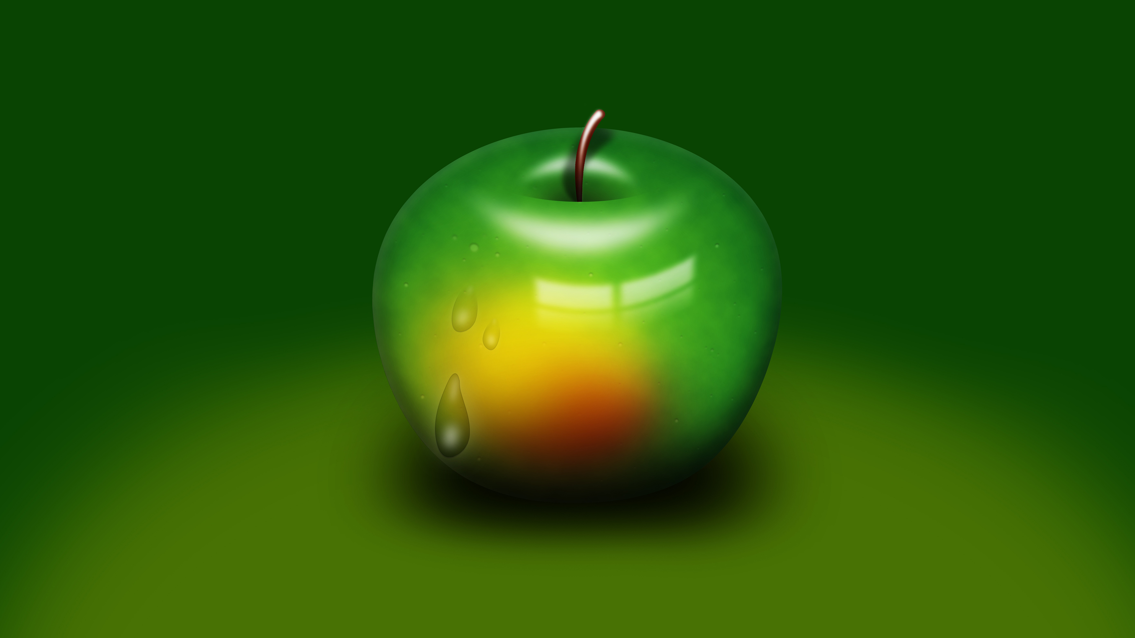 4k Green Apple Wallpaper Hd