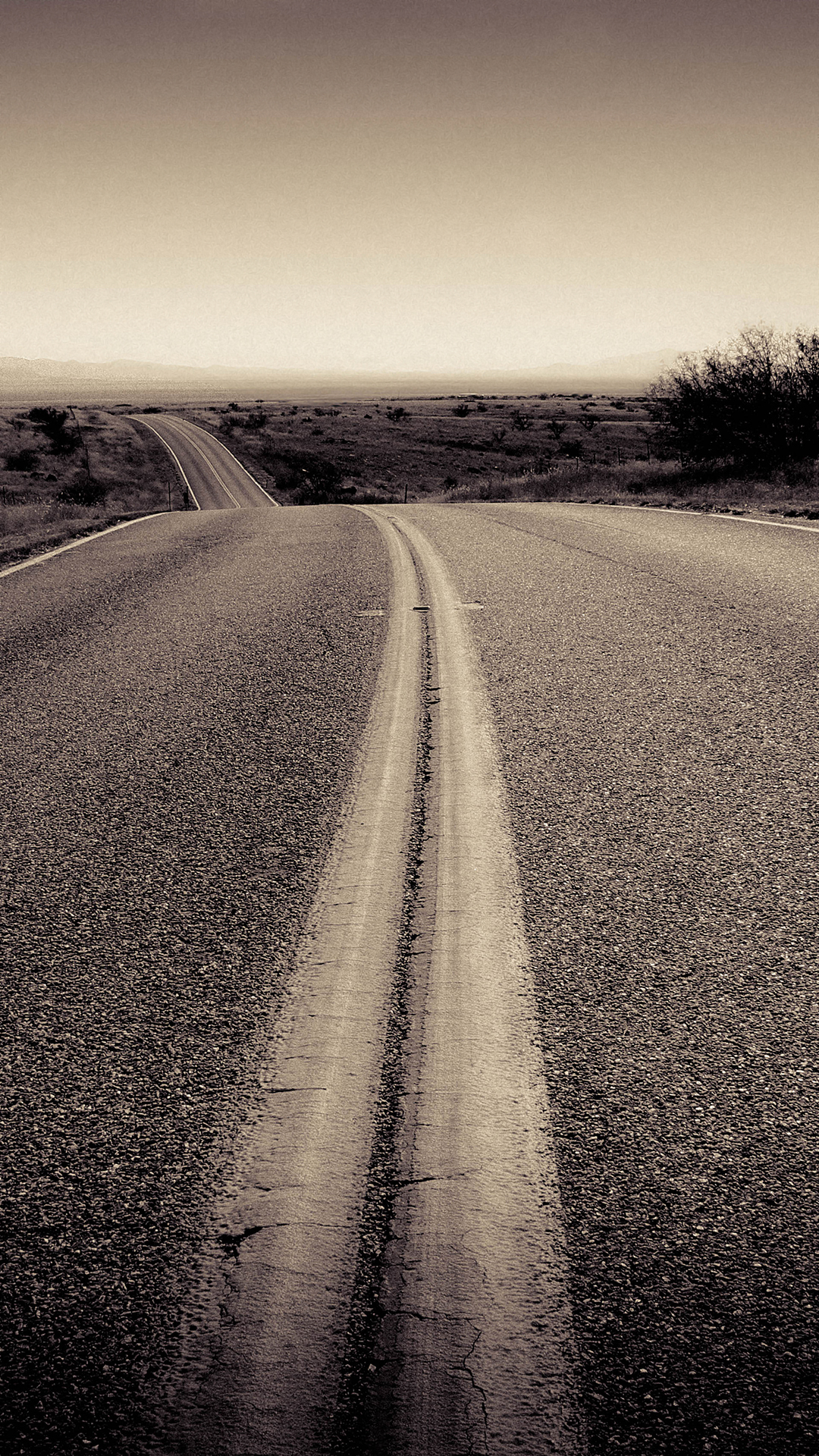 Open Road Iphone Background