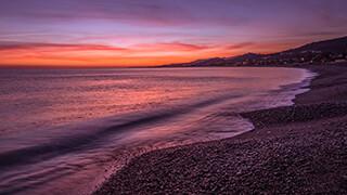 early morning shore wallpaper