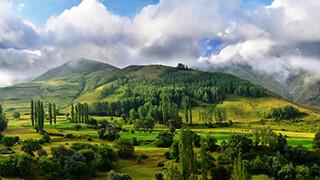 green mountain valley wallpaper