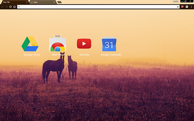 Horses Chrome Theme