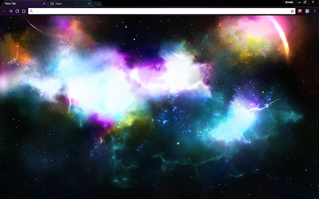 Incredible Space Google Chrome Theme