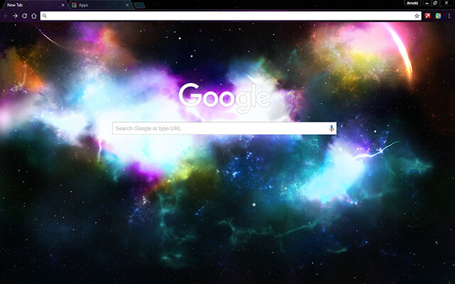 Incredible Space Google Theme