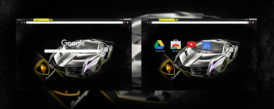 Lamborghini Veneno Google Chrome Theme