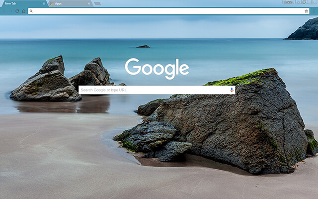 Sea Rocks Google Theme