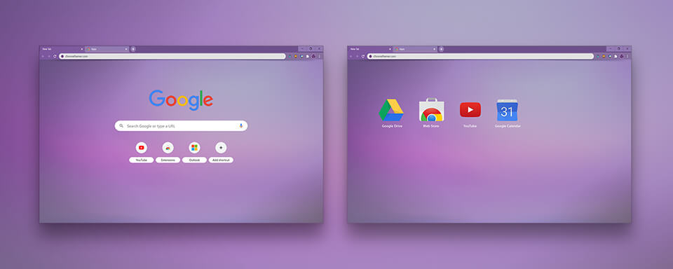 Shaded Purple Google Chrome Theme