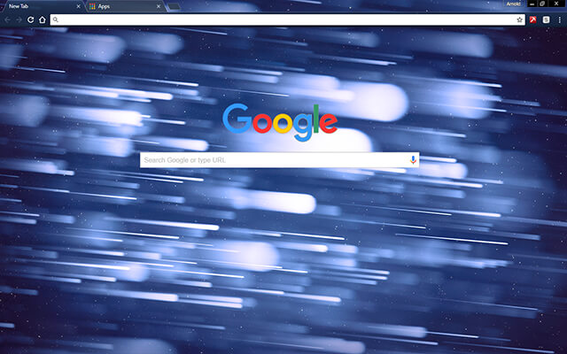 Space Asteroids Google Theme