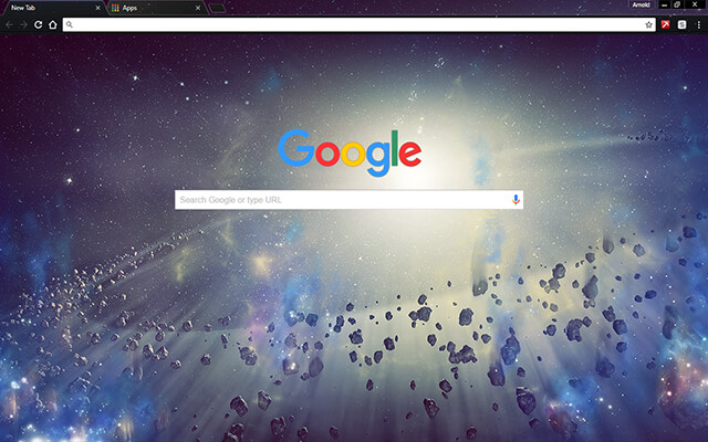 Space Rocks Google Theme