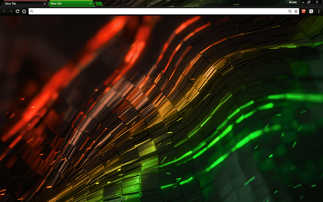 Alien Multi Color Google Chrome Theme