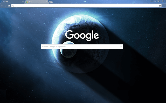 Blue Planet Google Chrome Theme