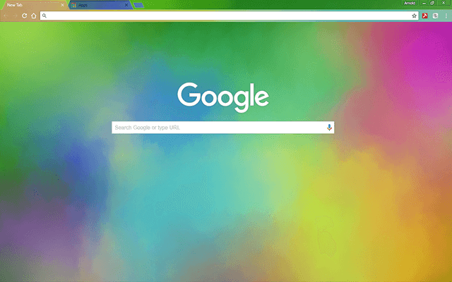Water Colors Google Chrome Theme