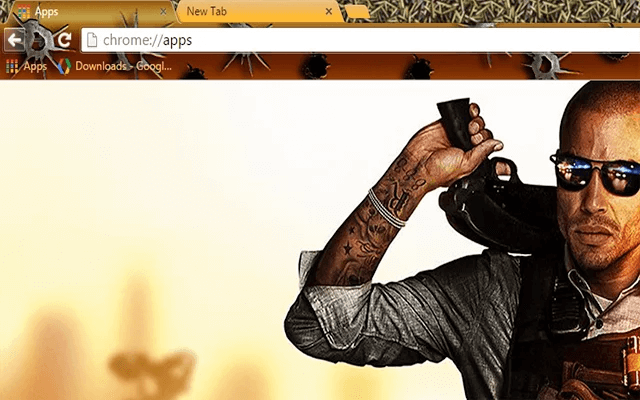 Battlefield Hardline Google Chrome Theme