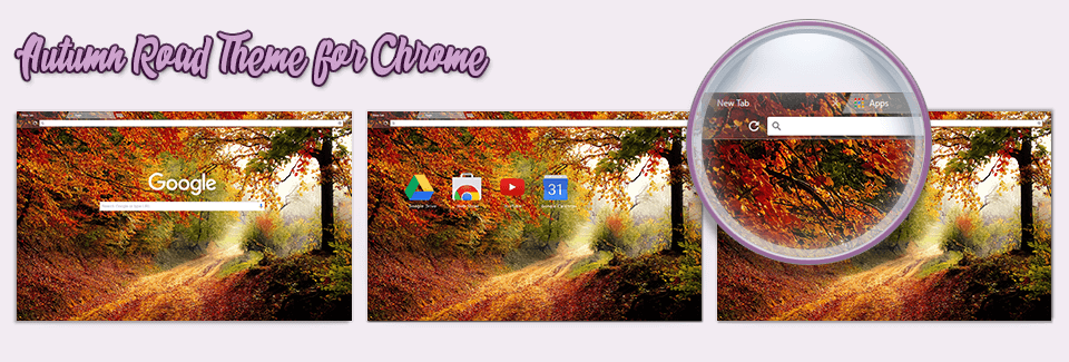 Autumn Road Theme For Chrome