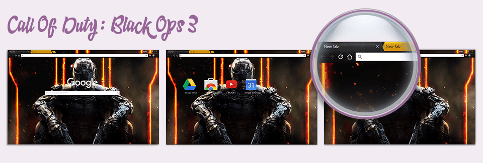 Call Of Duty: Black Ops 3 Chrome Theme