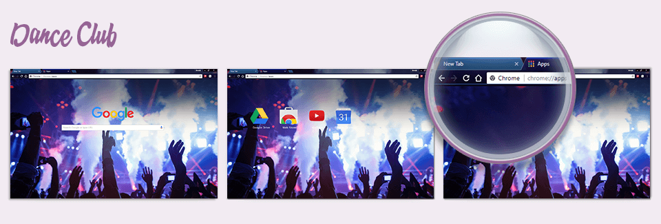 Dance Club Google Chrome Theme