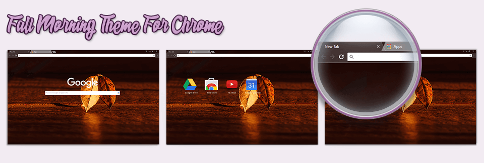Fall Morning Theme For Chrome