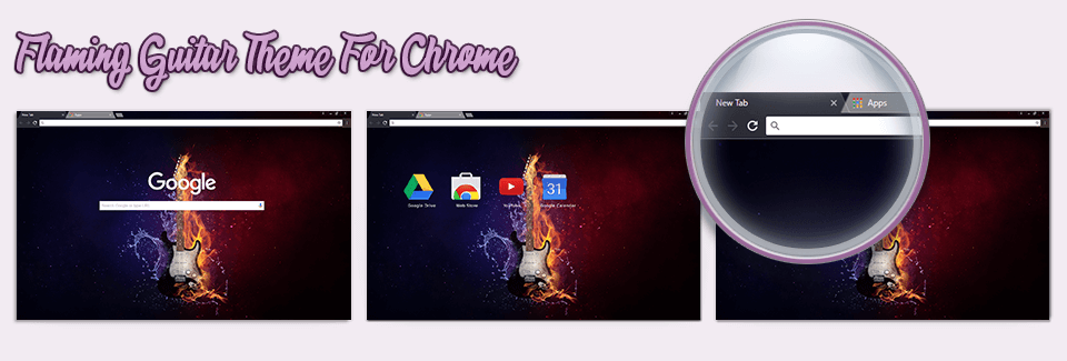 Flaming Guitar Theme For Chrome