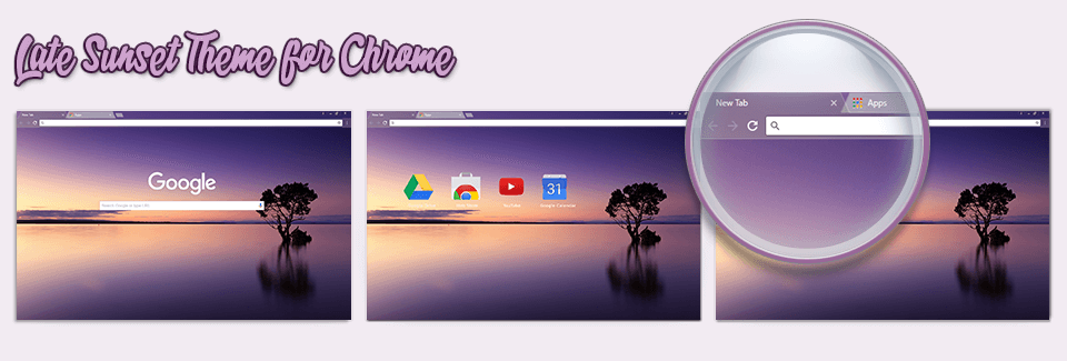 Late Sunset Theme For Chrome