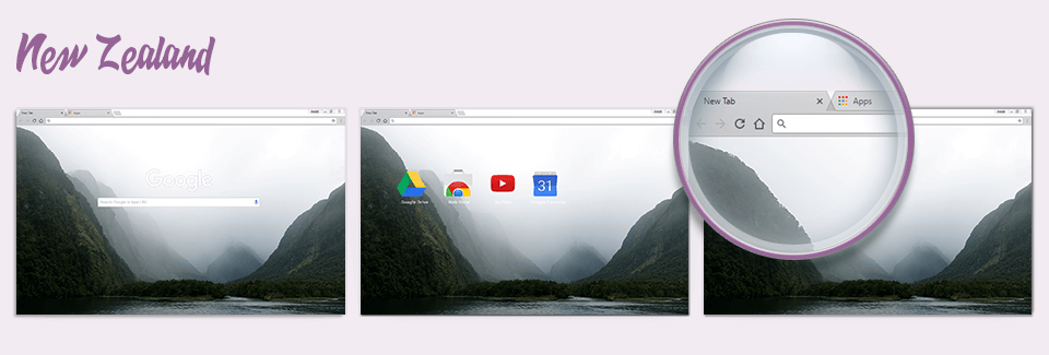 New Zealand Chrome Theme