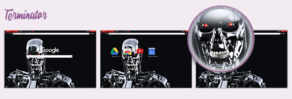Terminator Chrome Theme