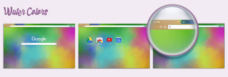 Water Colors Chrome Theme