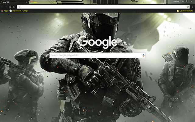 Call Of Duty: Infinite Warfare Google Chrome Theme