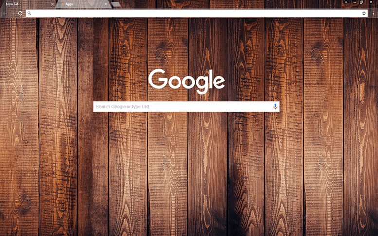 Dark Wood Google Chrome Theme