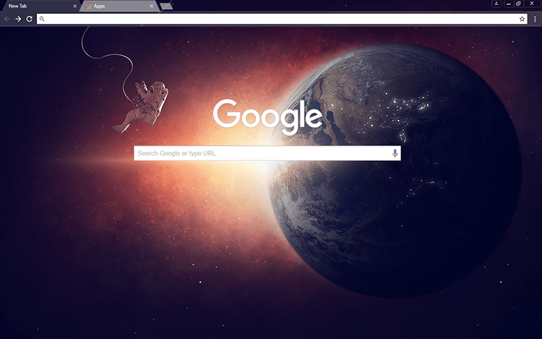 Lone Space Google Chrome Theme
