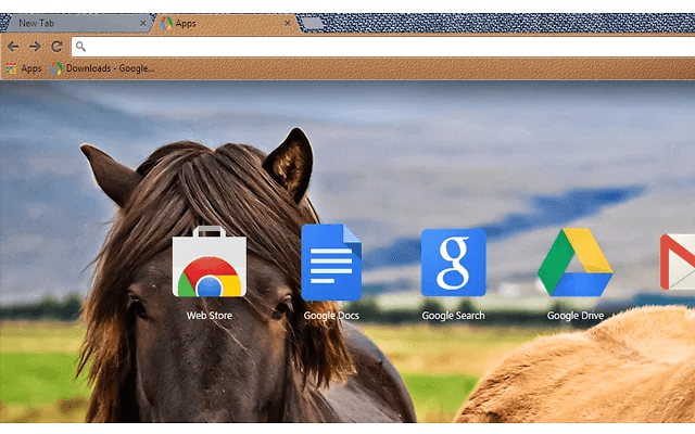 Free Love Horses Google Chrome Theme