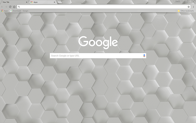 Free White Hex Google Chrome Theme