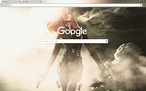Black Widow Google Chrome Theme
