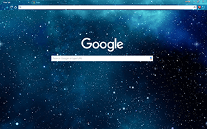 Blue Galaxy Stars Google Chrome Theme