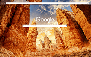 Canyon Rock Google Chrome Theme