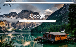 Creek Cabin Google Chrome Theme