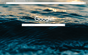 Dark Blue Water Google Chrome Theme