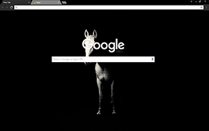 Dark Horse Google Chrome Theme