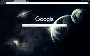 Dark Space Google Chrome Theme