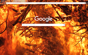 Fire Google Chrome Theme