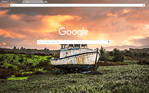 Fishing Boat Google Chrome Theme