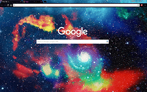 Galaxy 3D Google Chrome Theme