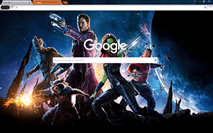 Guardians Of The Galaxy Google Chrome Theme