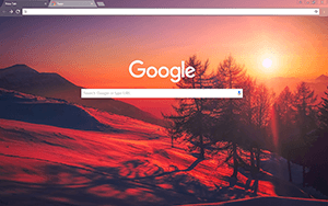 Morning Mountain Google Chrome Theme