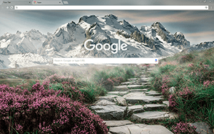 Mountain Landscape Google Chrome Theme