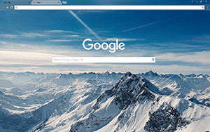 Mountain Peaks Google Chrome Theme