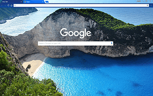Navagio Beach Chrome Theme