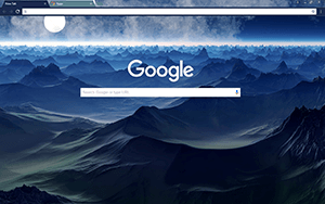 Planet X Google Chrome Theme