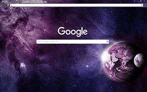 Purple Planet Google Chrome Theme